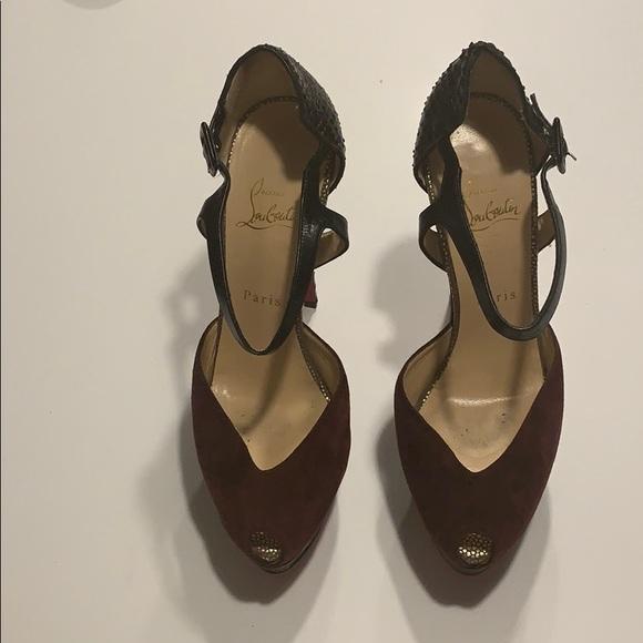 Christian Louboutin Peep-Toe Heels